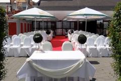 Hochzeit Feiern draussen